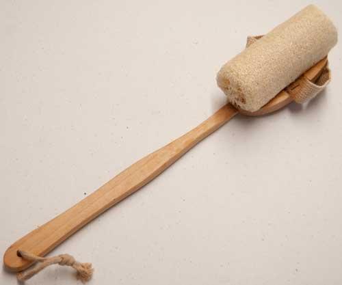 loofa on a stick