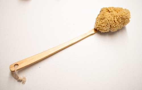 Yellow sponge on a stick
